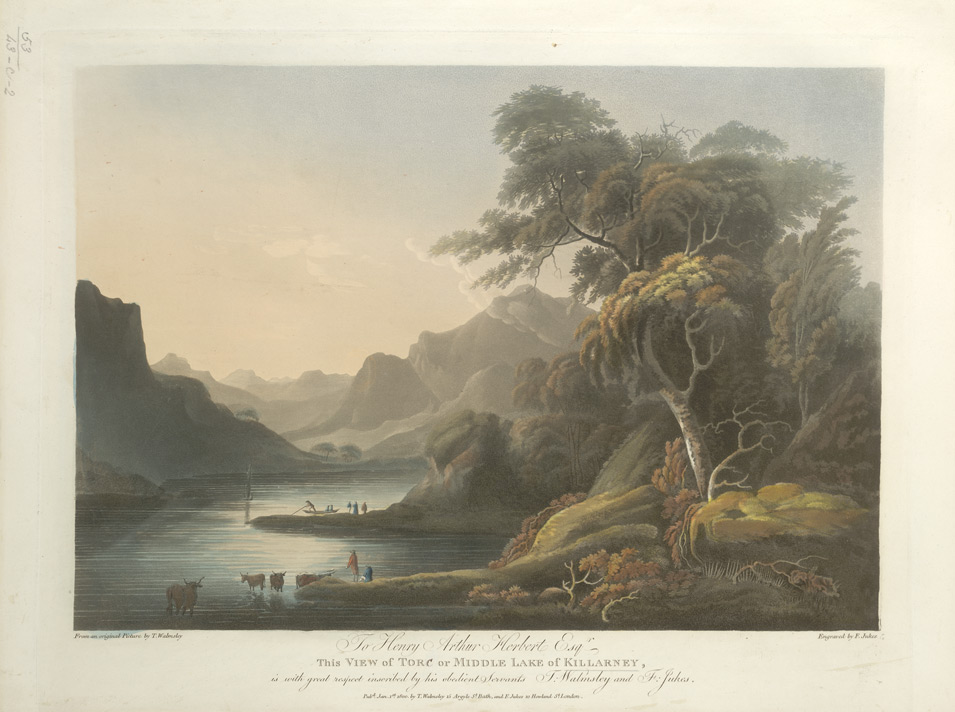 View of the Torc or Middle Lake Killarney